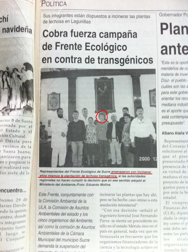 Newspaper from Mérida, Venezuela